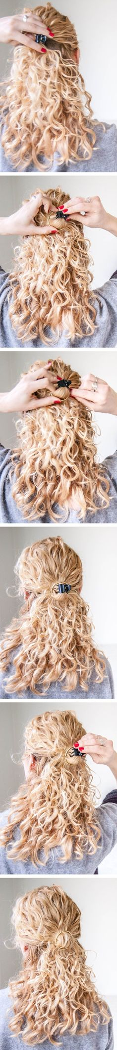 DIY circle hair holder/barrette