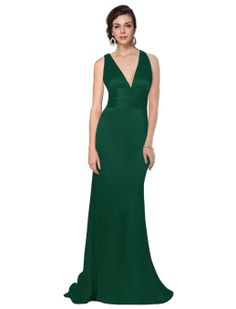 Amazon.com: Ever Pretty Trailing V-neck Ruffles Cross Back Bridesmaid Dress 09008: Clothing