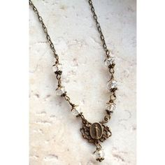 Mother Mary Bronze & Crystal Necklace | The Catholic Company