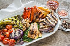 Buy Grilled vegetables by on PhotoDune. Salsa Picante, Gula, Grilled Vegetables, Japchae, Food Photo, Pasta Salad, Grilling, Food And Drink, Cooking
