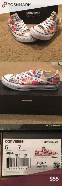 Converse Andy Warhol Cambells soup low tops Authentic converse. Low tops. RARE. Converse Shoes Sneakers