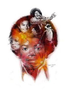 Beautiful artwork of Michael Jackson.