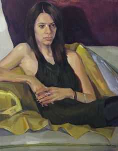 "Fine art oil painting portrait ""Dakota"" 16x20 inch original oil by Sarah Sedwick, available on Etsy."