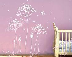 Decalcomania di tarassaco wall decal fiore muro di DreamKidsDecal