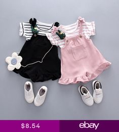 2019 new female baby bib suit girls summer short sleeve two-piece summer baby suit Girls Summer Outfits, Cute Outfits For Kids, Girl Outfits, Baby Girl Fashion, Toddler Fashion, Kids Fashion, Baby Fashion Clothes, Style Fashion, Striped Top Outfit