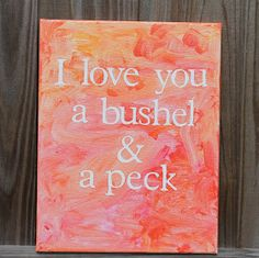 Desperate Craftwives: Kid Painted Canvas