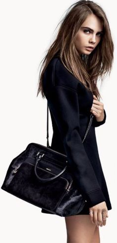 Cara Delevingne so lovely in black jacket dress.