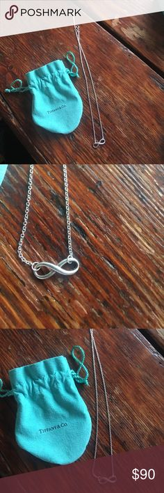 Tiffany and co infinity necklace Tiffany and co infinity necklace. 18 inch chain. Two hooks to adjust length desired. Tiffany & Co. Jewelry Necklaces