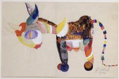 Design for a toy animal<br /> made of fabric<br /> 1920<br /> 18x27 cm<br /> <br /> Private collection
