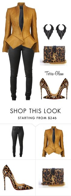 """Simply Slayed"" by terra-glam ❤ liked on Polyvore featuring Acne Studios, Haider Ackermann, Christian Louboutin and Yves Saint Laurent"