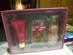 LA VIDA LOCA OUR IMPRESSIONS OF VIVA LA JUICY COULTURE 3PC BOX SET #JuicyCouture Perfume Sets, Juicy Couture, Lotion, Box, Snare Drum, Lotions, Cream