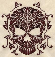 Damask Skull | Urban Threads: Unique and Awesome Embroidery Designs