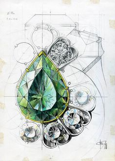 VLAD GLYNIN jewellery - vladglynin.com - ВЛАД ГЛЫНИН ювелир. / inspiration on how to draw designs from different shaped gemstones x