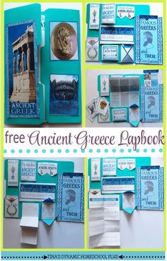 Grab this second lapbook about Ancient Greece. It is a free homeschool unit study along with hands-on history activies. Grab this free lapbook over @ Tina's Dynamic Homeschool Plus Sparta Ancient Greece, Athens And Sparta, Ancient Greece Lessons, History For Kids, Study History, Women's History, History Books, Greek History, Ancient History