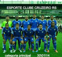 ESPORTE CLUBE CRUZEIRO RS  PRIMEIRA DIVISÃO GAÚCHA : CAMPEONATO GAÚCHO 2014