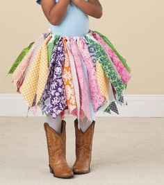 Cowgirl tutu skirt no sew this is just my speed diy little girls rag skirt solutioingenieria Gallery