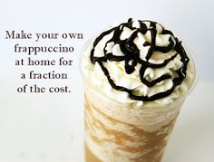 Do you want to have your Starbucks, but don't want to pay for it? This Peppermint Mocha Frappuccino (Starbucks Copy Cat Recipe) is amazing and you will love it. Starbucks Frappuccino, Homemade Frappuccino, Homemade Mocha, Starbucks White Chocolate Mocha Frappuccino Recipe, Yummy Drinks, Yummy Food, Refreshing Drinks, Tasty, Smoothies