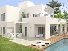 Magnificent luxury villas under construction 400 meters from the beach in one of the safest and quietest areas of Marbella, San Pedro Playa.  It offers four bedrooms, each with an en-suite bathroom. #AgencyMarbella #SanPedroDeAlcantara #Contemporary