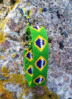 Brazil Flag friendship bracelet Brazilian by FriendshipBraceletKM
