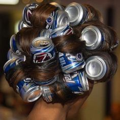 Curlers in cans ! Haha :p