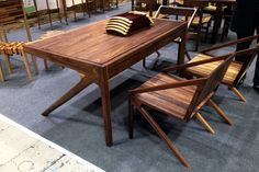 reed writing desk and chairs