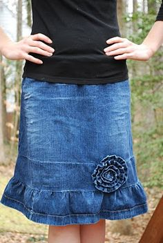 maybe this style for the denim skirt for Ava