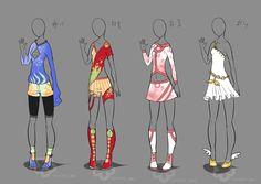 Some Outfit Adopts #2 - OPEN 1/4 by Nahemii-san.deviantart.com on @deviantART
