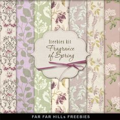 FREE Freebies Background Kit - Fragrance of Spring by Far Far Hill