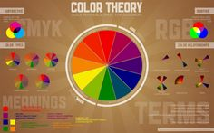 cool color theory graphic