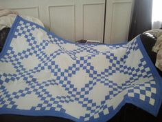 Double Irish Chain Queen sized quilt by MaisyDaisyCreations. Beautiful job May!