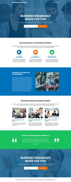 business-insurance-get-free-quote-page-011 | Business Insurance Landing Page Design preview.