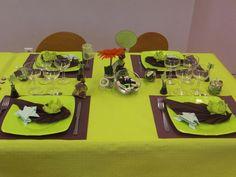 Decoration de table anis et chocolat