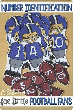 Add a few games to your Gametime fun with this Number Identification for Little Football Fans