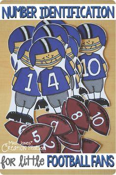 Number Identification for Little Football Fans - Mrs. Jones' Creation Station