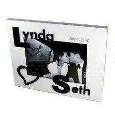 3D Monogrammed White Photo Frame