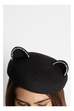 Eugenia Kim Caterina pearl-embellished woven hat