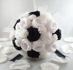 Uptown Wedding Bouquet Origami Bridal Bouquet by TheWhiteBouquet, $50.00