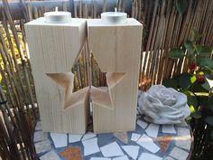Teelichthalter+Stern+aus+Holz+Weihnachten+Advent+von+mein+rosa+rot++auf+DaWanda.com