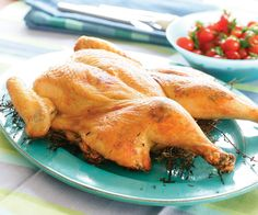 Chicken: Butterflied Chicken Dijon Grilled on a Bed of Thyme Recipe