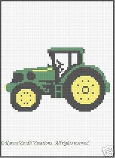 Crochet Patterns - TRACTOR afghan pattern in Crafts, Needlecrafts & Yarn, Crocheting & Knitting Crochet Blanket Edging, Tunisian Crochet Stitches, Crochet Stitches Patterns, Cross Stitch Patterns, Baby Afghan Patterns, Baby Afghans, Crochet Patron, Cross Stitch Baby, Single Crochet Stitch