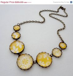 15 OFF SHOP SALE Mustard Yellow Statement by WearitoutJewelz, $29.75