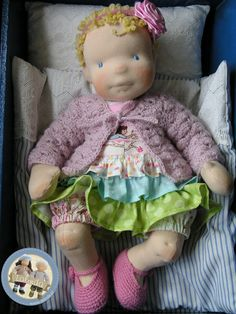 Marion - cloth baby doll made by Lalinda.pl