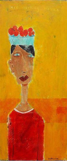 Buy Original Art by Rick Hamilton | acrylic painting | Hard Working Woman at UGallery