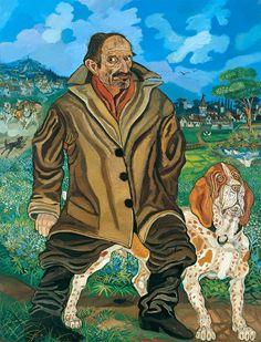 Autoritratto con cane _ Antonio Ligabue