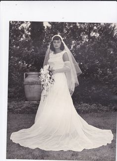 Vintage Bride Photograph Z by gwensewvintage on Etsy, $4.00