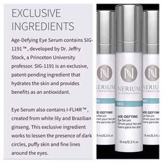 Neora offers exclusive age-defying skincare and wellness products with patented ingredients to help people look and feel their best. Anti Aging Serum, Eye Serum, Anti Aging Skin Care, Nerium International, Face Skin Care, Body Contouring, Skin Treatments, Good Skin, Dark Circles