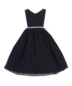 Look at this Ellie Kids Black Pearl-Waist A-Line Dress - Kids & Tween on #zulily today!