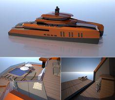 EVA Concept Catamaran Superyacht