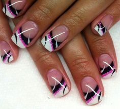 This Gel Nail pattern is very pretty and anyone can wear it! #kelownaspa…