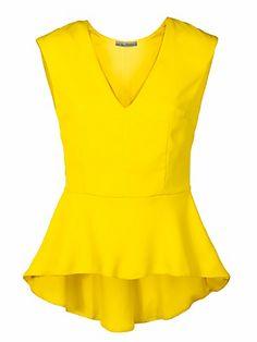 Ashley Brooke by heine - Top mit Schößchen gelb im heine Online-Shop kaufen